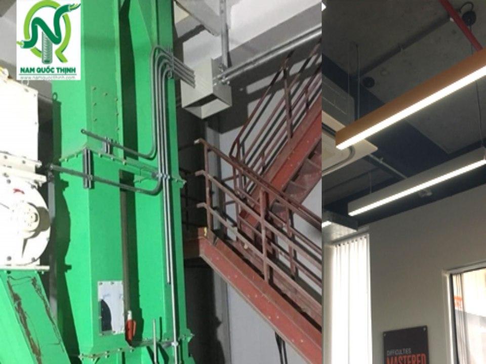 Ống thép luồn dây điện cho nhà máy