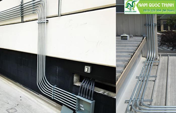 Ứng dụng ống thép luồn dây điện IMC